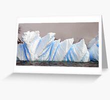 Luminous ice , Antarctica Greeting Card