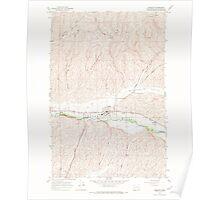 USGS Topo Map Washington State WA Prescott 243273 1967 24000 Poster