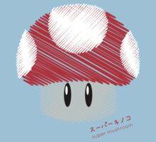 super mushroom -scribble- Kids Tee