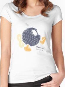 bob-omb -scribble- Women's Fitted Scoop T-Shirt