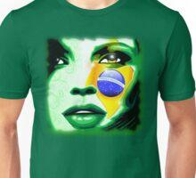 Brazil Flag Girl Portrait Unisex T-Shirt