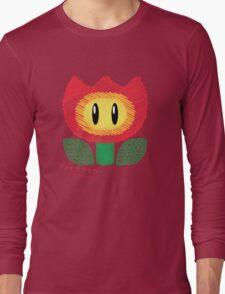 fire flower -scribble- Long Sleeve T-Shirt