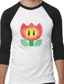 fire flower -scribble- Men's Baseball ¾ T-Shirt