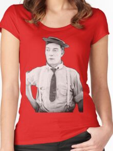 oh buster .  Women's Fitted Scoop T-Shirt