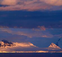Sunset over Ice , Antarctica by geophotographic