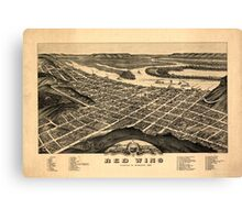 Panoramic Maps view of the city of Red Wing Goddhue sic Co Minnesota 1880 Canvas Print