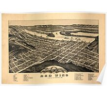 Panoramic Maps view of the city of Red Wing Goddhue sic Co Minnesota 1880 Poster