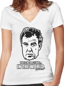 Jeremy Clarkson - IN THE WORLD. Women's Fitted V-Neck T-Shirt