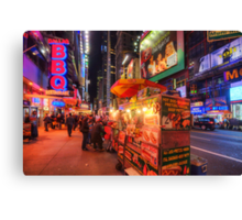 Hotdog Stands Canvas Print