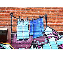 Graffiti Washing Photographic Print