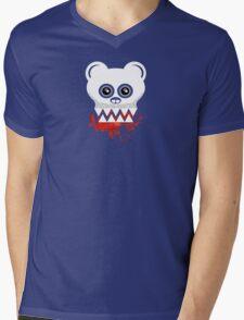 BEAR SKULL Mens V-Neck T-Shirt
