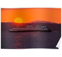 Sunset from Edmonds Poster