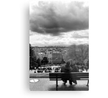 Kisses on a cloudy day - Paris France Metal Print