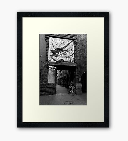 Duck and weave - Bremen, Germany Framed Print