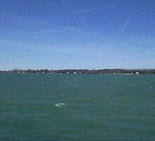 Lake St. Clair Michigan Sky Streaks Digital Photo By Cheyene Montana Lopez by trishabluewater