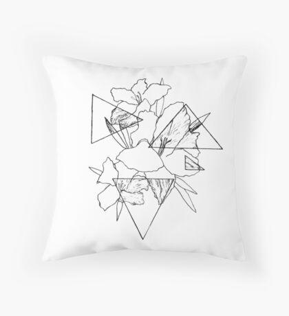 Geometric Bloom Throw Pillow