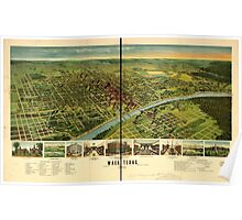 Panoramic Maps Waco Texas 1892 Poster