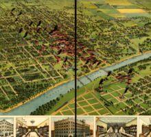 Panoramic Maps Waco Texas 1892 Sticker