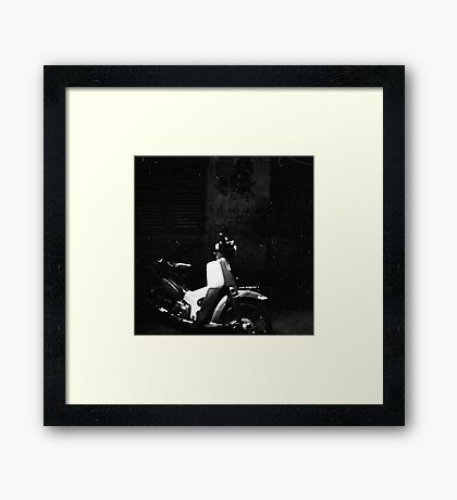 wait in the alley Framed Print