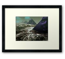 Pyramids of Sirius Framed Print