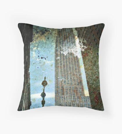 Empire State Building Grunge Throw Pillow
