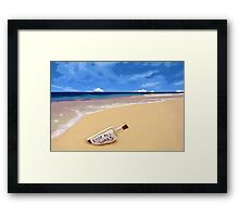 Message in the bottle Framed Print