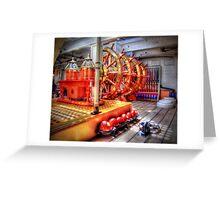 The Helm Below Decks HMS Warrior - HDR Greeting Card