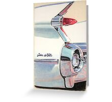 1959 Cadillac Sedan de Ville Greeting Card