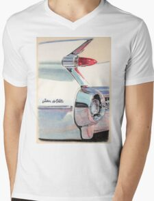 1959 Cadillac Sedan de Ville Mens V-Neck T-Shirt