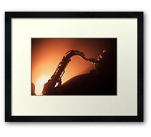 Hot and Saxy Framed Print