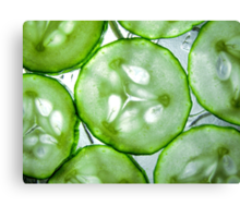 Sliced Cucumber Canvas Print