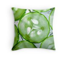 Sliced Cucumber Throw Pillow