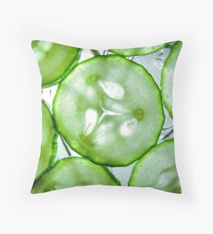 Sliced Cucumber Throw Pillow