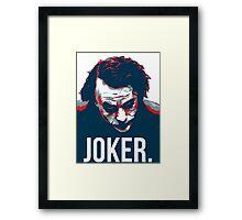 JOKER. Framed Print