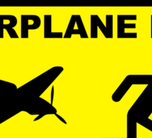 RC Airplane Pilot - Stand Back Sticker