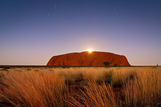 Moonrise over the Rock by Dieter Tracey