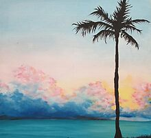 Turquoise Palm by Kelly Steen