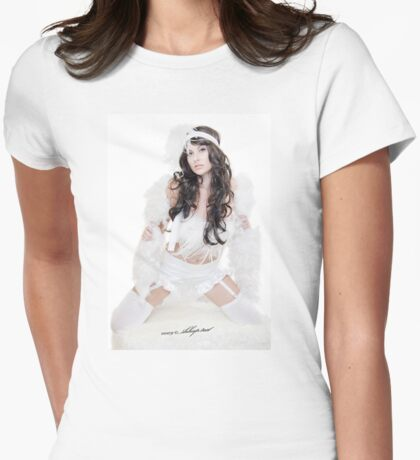 VintageSnowBunny©SHH Womens Fitted T-Shirt