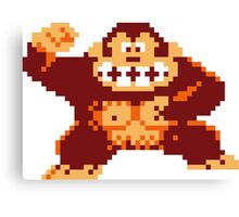 Donkey Kong Pixelated Canvas Print