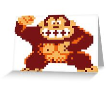 Donkey Kong Pixelated Greeting Card