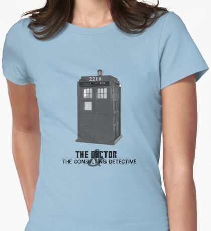 Wholock - The Doctor and the Consulting Detective Womens Fitted T-Shirt