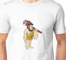 Neanderthal CaveMan Plumber Monkey Wrench Cartoon Unisex T-Shirt