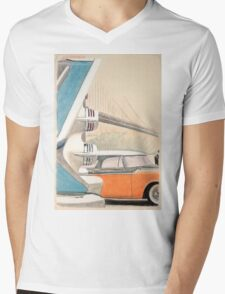 The new 1956 Dodge Mens V-Neck T-Shirt