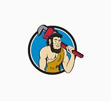 Neanderthal CaveMan Plumber Monkey Wrench Circle Cartoon Unisex T-Shirt