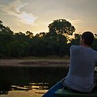 Sunset on the Amazon by Michael Telfer