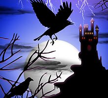 Raven's Haunted Castle by BluedarkArt