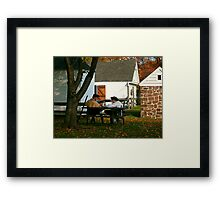 Lost In Thought, Dey Mansion, Wayne NJ Framed Print