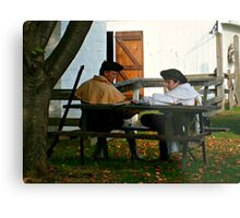 Crop and Zoom on Revolutionary Soldiers, Dey Mansion Metal Print