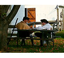 Crop and Zoom on Revolutionary Soldiers, Dey Mansion Photographic Print