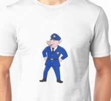 Policeman Pig Sheriff Cartoon Unisex T-Shirt